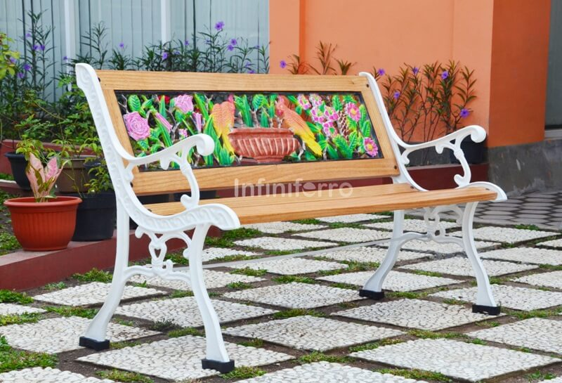 COLUMBA Cast Iron Garden Bench