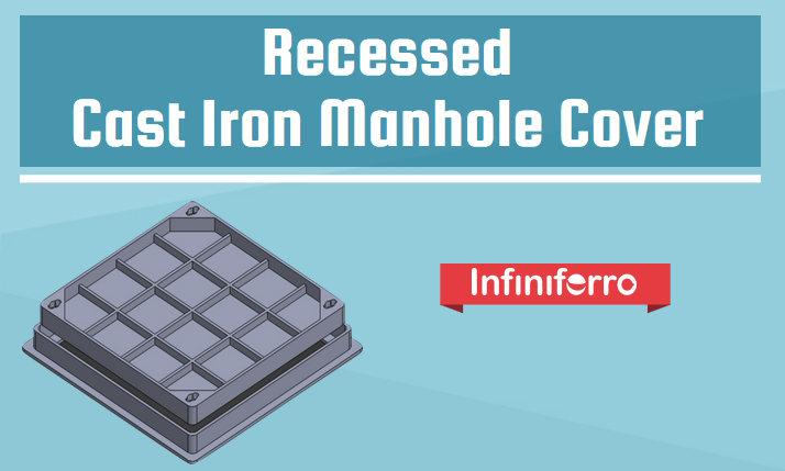 Recessed cast iron manhole cover
