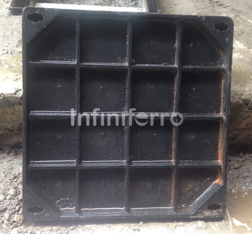 recessed cast iron manhole cover