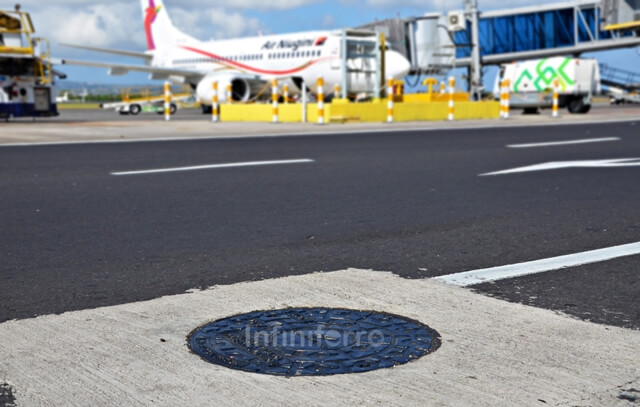manhole cover in airport