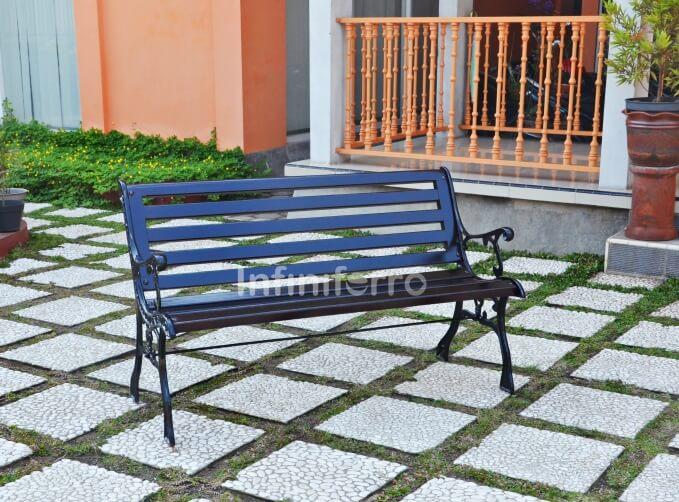 ANTLIA cast iron garden bench