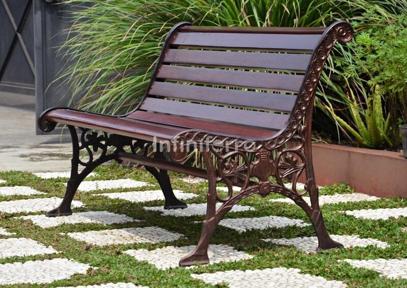 phoenix cast iron garden bench